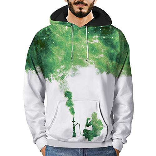 Sweatshirt Herren 3D Printed Sky Pullover Langarm Kapuzenpullover Kapuzen Streetwear Tops Bluse...