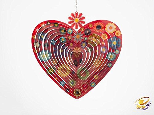 Spin Art Designer Flower Heart Wind Spinner Schwänze Spin