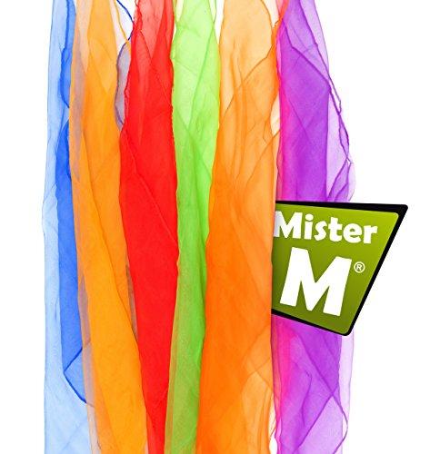 6 Tücher, CE geprüft, mit Gratis online Jonglier Lern Video - von MisterM