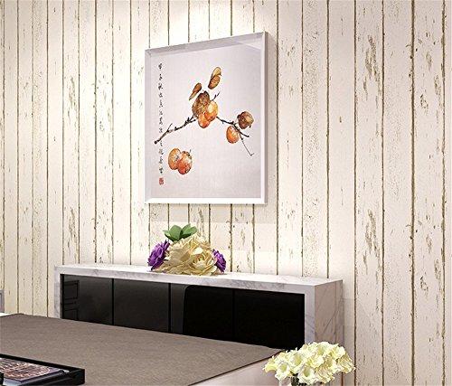 ufengke Nostálgico Rayas Verticales Patrón de Madera No Tejido Papel Pintado Mural Para Dormitorio Sala de Estar