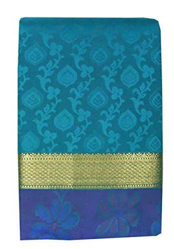Saravanabava Silks Art Silk Saree With Blouse Piece (Srbs004-C2_Rama Blue_Free Size)