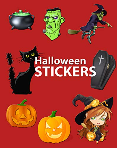 Halloween Stickers: More Than 120 Halloween Stickers for Kids and Adults (English Edition)