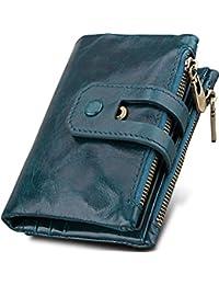 b24594030e8d2 Reise-Brieftasche Kuh Leder Unisex Reisepass-Halter langlebig wasserdicht  Organizer mit Handschlaufe für Familien-Dokumente Karten Multi…