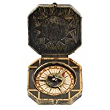 KOBWA Pirate Compass Toy Caribbean Pirate Golden Compass Accessory For Fancy Dress Costume Nautical Captain Compass Party Props Great Gift For Kids