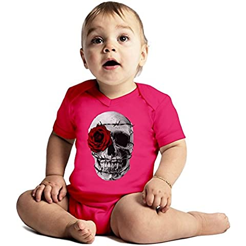 Vampire Skull Amazing Quality Baby Bodysuit by True Fans Apparel - Made From 100% Organic Cotton- Super Soft V-Neck Style - Unisex Design- Perfect As A Present