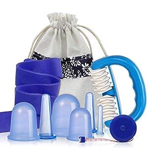 Schröpfen Silikon – Mifine Schröpfgläser Silikon, Cupping set, Massage Cups, Cellulite Massage Gerät, Gesicht schröpfen anti-cellulite massage vakuum gerät