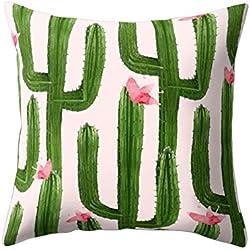 """Funda de cojín con diseño impreso de cactus para decorar el sofá o la cama, 12#, 17.72"""" x 17.72"""""""