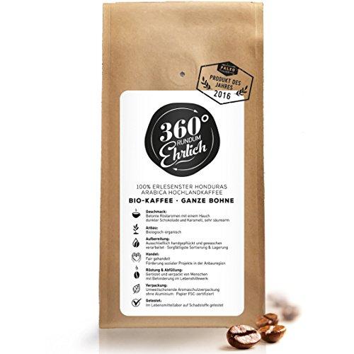 Premium Bio Kaffeebohnen preisgekrönt | Köstlich, sehr säurearm und bekömmlich von 360° rundum...