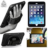 "Gorilla Tech Apple iPad 9.7"" (2018) 6th Generation Survivor Case with Hand Strap and Kick Stand one Hand Use Full Protectoin, Black"