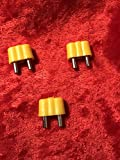 Puppenhaus Zubehör, Stecker gelb für Puppenhaus und Krippen Beleuchtung. Set 3 Stück
