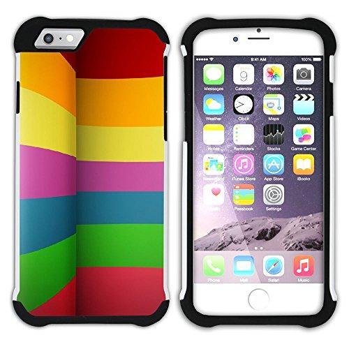 Graphic4You Regenbogen Farben Hart + Weiche Kratzfeste Hülle Case Schale Tasche Schutzhülle für Apple iPhone 6 Plus / 6S Plus Design #5
