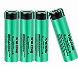 18650 Akku, High Drain Flat Top Lithium-Ionen Akku 3000 mAh 20A 3,7 V Batterie wiederaufladbare inkl.Akku box (4Stück)