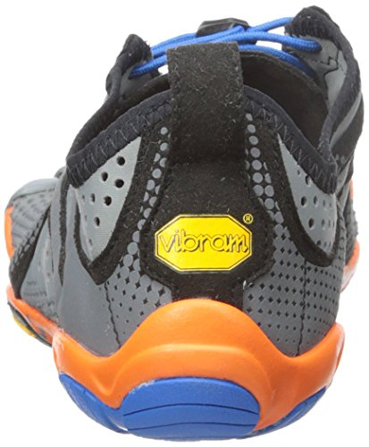 Vibram Five Fingers V-Run, Chaussures de Running Compétition Homme, Bleu Gris - Grey (Grey/Blue/Orange)
