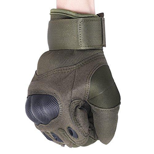 codomoxo® Streitkräfte Handschuhe taktische Spezialeinheiten Plein Air Finger Gym Handschuhe Reißfeste Kampf Fitness Moto Zyklus, grün, XL -