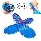FooneeSoletta in gel di silicone, inserti per scarpe, supporta l'arco del piede, ammortizza i colpi e il dolore, per lo sport, traspirante, per uomini e donne (1paio), medium
