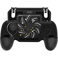 """NOYMI PUBG Mobile Game Controller with Portable Charger Cooling Fan, Sensitive L1R1 Shoot Aim Game Trigger Joystick Gamepad Grip for 4.7-6.5"""" Phone(2000mAh Battery)"""