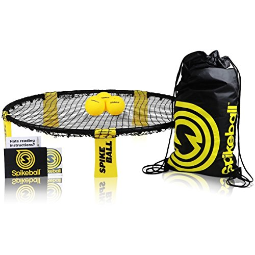 Spikeball Outdoor Indoor Ball Activity Sports Game Set - As Seen On Shark Tank - Play on Lawn, Garden, Beach, Football Field - Includes Net, 3 Balls, Bag, Rule Book - Great Gift for Family, Teens, Boys, Adults