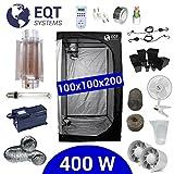 Growbox Komplettset 400 Watt HPS Cooltube Protube 100x100x200 cm - Vorschaltgerät ETI 2