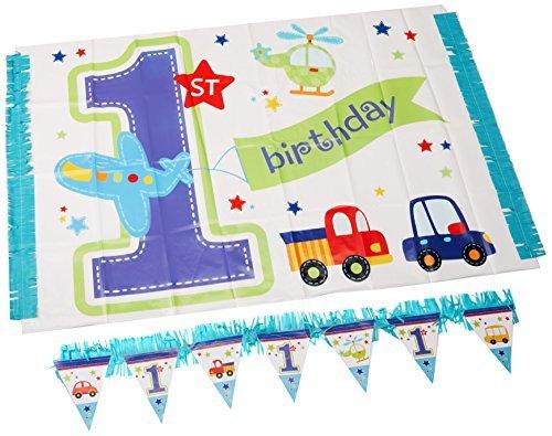 Banner 1. Geburtstag Hochstuhl (All Aboard ersten Geburtstag Hochstuhl Dekorieren Kit)