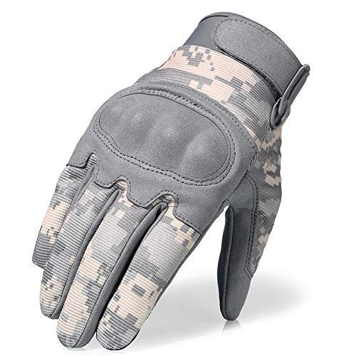 Guanti Moto Touch Knuckle Hard Touch Camouflage Full Finger Guanti Antivento Motocross motoslitta Sci Sport all'Aria Aperta equipaggiamento Protettivo