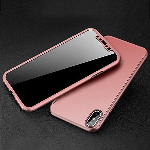 iPhone 6Plus/6S Plus Fall, ikasefu 360Full Body Schutz Hard Slim Case für Rückseite stoßfest Luxus Sleek Cute glänzend PC Cover Ultra Thin Bumper Schutzhülle für iPhone 6Plus/6S Plus rose gold