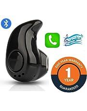 Shaarq S530 Wireless Bluetooth Headset Universal Earphone with Mic Mini Single Ear Device to Support Handsfree Calling for Smartphones & Tablets (KAJU_)