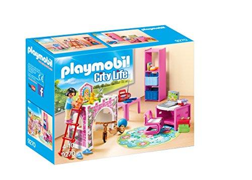 Playmobil Casa Moderna-9270 Habitación Infantil Color Rosa (9270