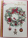 Traditionelle Sohn und Schwiegertochter Weihnachten–Sie beide Nice Vers Grußkarte