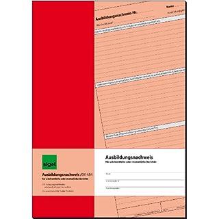 SIGEL AW484 Ausbildungsnachweisheft / Berichtsheft für wöchentliche oder monatliche Eintragungen, A4, 28 Blatt