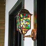 YLSMN Böhmische Wandleuchte Außenleuchte Kreative Villa Balkon Gartenlampe wasserdichte Wandleuchte Gartenrestaurant Wandleuchte nachtlicht