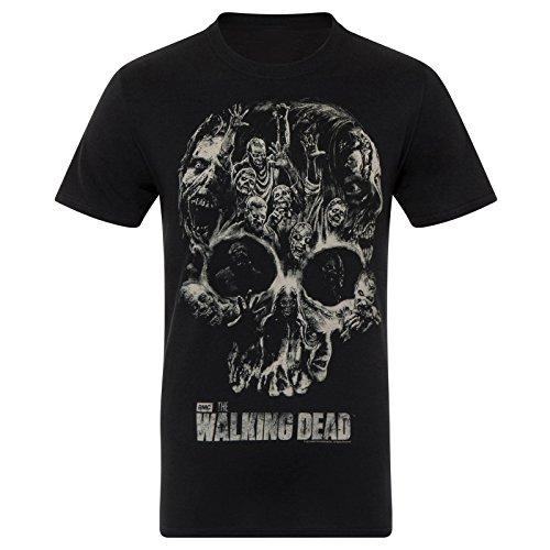 The Walking Dead - Herren T-Shirt - Offizielles Merchandise Schwarz Totenkopf