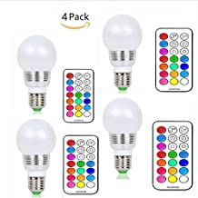 (Pack of 4)Lennystone® 5W Lampada Bulbo a LED con IR