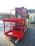 Staplerbühne Arbeitsbühne Stapler Sicherheitskorb Stapler Korb Arbeitskorb Rot