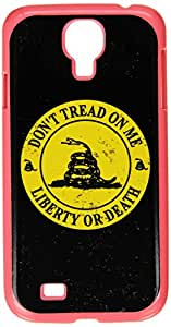 Graphics and More Gadsden - Don't Tread on Me - Liberty or Death Distressed Circle - Snap On Hard Protective Case for Samsung Galaxy S4 - Non-Retail Packaging - Pink