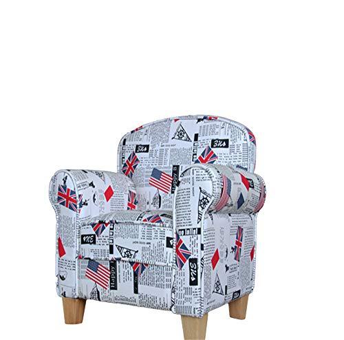 Microsuede-lounge (Lineary Leichter Freizeitstuhl Freizeit-Sofa Kinder gepolsterter Stuhl Roundy Child Size Stuhl mit Microsuede Ottoman Lounge-Sessel)
