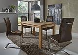 SAM Stilvolle Esszimmertischgruppe 5tlg Emil aus Kernbuche geölt besteht aus 1 x Tisch Emil geölt...