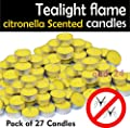 27 Citronella Tealight Candles Wax Mosquito Fly Insect Repeller For Home Outdoor By Tesco from Tesco