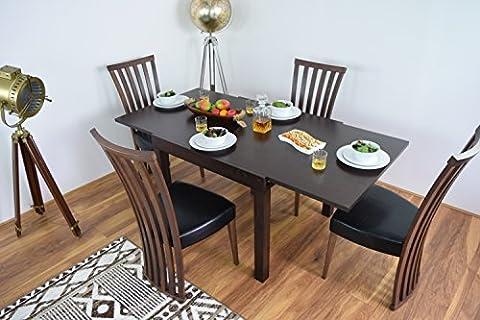 Table de salle à manger à rallonge avec 4chaises et banc de cuisine en bois massif Table Extensible en bois meubles de salle à manger Ensembles Tables et chaise