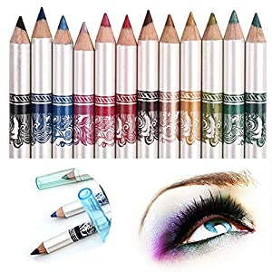 CINEEN 12 Colores Larga Duracion Delineador de ojos Delineador de Labios Lápiz de Cejas Cosméticos de Belleza Maquillaje…