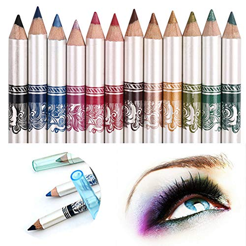 CINEEN 12 Colores Larga Duracion Delineador ojos Delineador