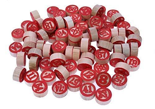 Wooden Bingo Chips, 1 - 90