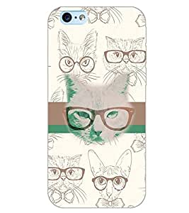 PrintDhaba SPECS CAT D-6179 Back Case Cover for APPLE IPHONE 6S (Multi-Coloured)