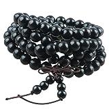 Shanxing Femme Homme Bracelet Bois Collier Mala 108 Perles Chaîne Tibétain...