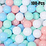 FunPa Play Balls, 100 Multicoloured Balls Soft Play Balls Ocean Ball Indoor and Outdoor Play Pit Balls Children Toys for Kids Gifts