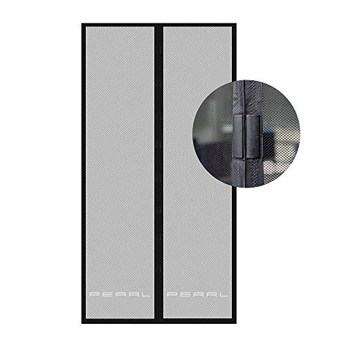 PEARL Fliegengitter Tür: Selbstschließendes Fliegennetz für Türen mit 82-86 cm Innendurchmesser (Fliegengitter Balkontür Magnet)