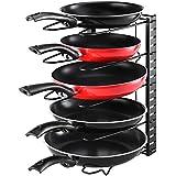 Aookey Pan Bakeware Organizador Rack de Almacenamiento, Utensilios de Cocina Ajustable Panera Soportes de la Tapa del Recipiente, de Acero Inoxidable
