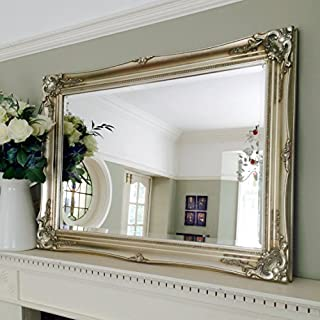 Ayers and Graces Classic Champagne Silver Gilt Swept Mirror (2ft 11