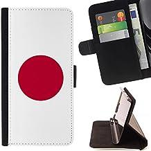 STPlus Japón Bandera japonesa Monedero Carcasa Funda para LG G2