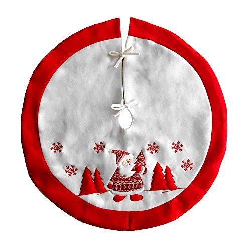 Demiawaking Gonna Ricamata per Albero di Natale Decorazione Natalizia Decorazione Domestica del Partito