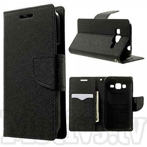 Annant Mercury Goospery Fancy Diairy Wallet Style Flip Cover Case For Samsung Galaxy S2 I9100 (Black)  available at amazon for Rs.239